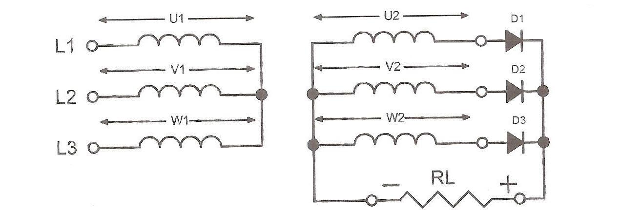 طرز اتصال یک سو سازی سه فاز نیم موج کنترل نشده