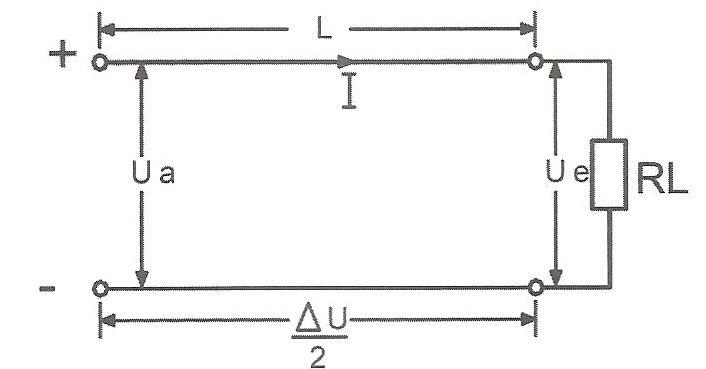 منبع ولتاژ DC با یک مصرف کننده
