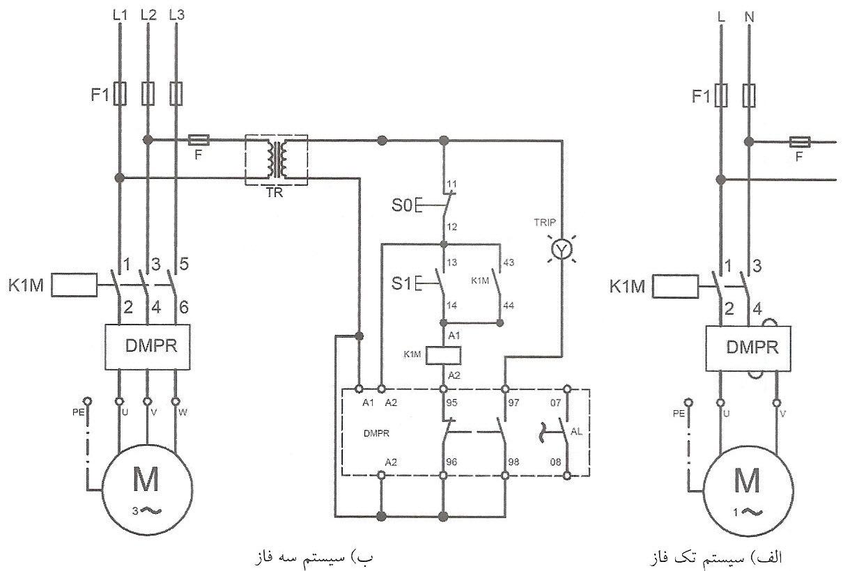 طرز اتصال رله دیجیتالی استاندارد به صورت مستقیم
