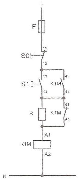طرز اتصال صحیح مقاومت محدودکننده جریان در کنتاکتورهای با بوبین DC