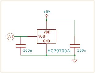راه اندازی صحیح حسگر دما MCP9700A