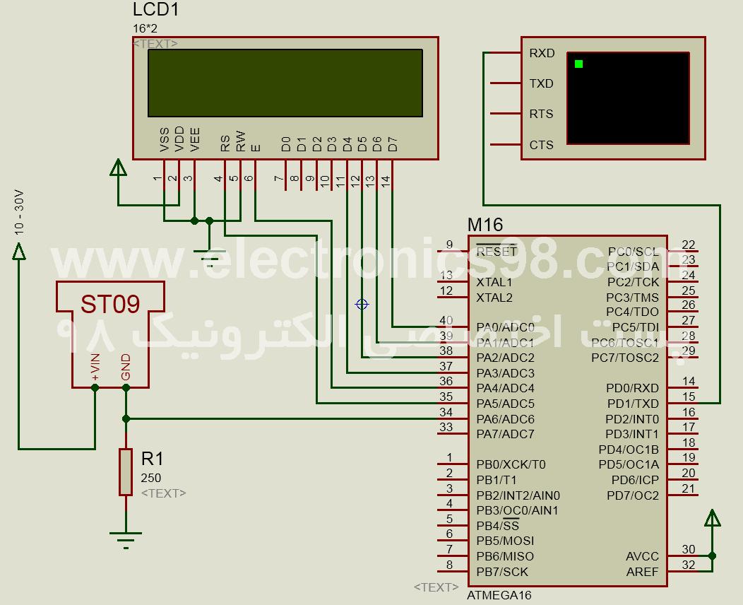 اندازه گیری فشار هوا توسط سنسور ST09