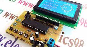 دانلود پروژه ساعت آنالوگ و تقویم با LCD گرافیکی KS0108