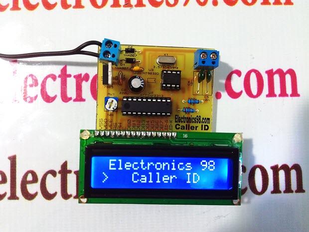 پروژه طراحی کالر آی دی Caller ID با میکروکنترلر AVR