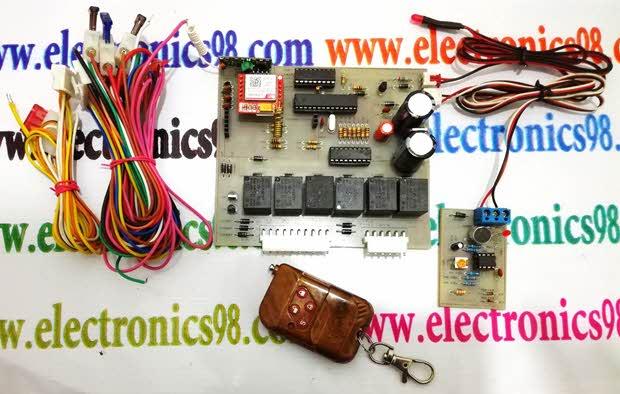 ساخت دزدگیر سیم کارتی خودرو با AVR و ماژول SIM900 و SIM800L