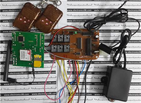 ساخت دزدگیر سیم کارتی خودرو با میکروکنترلر AVR و ماژول SIM900
