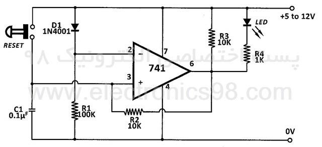 ساخت نشانگر قطع برق با آپ امپ 741