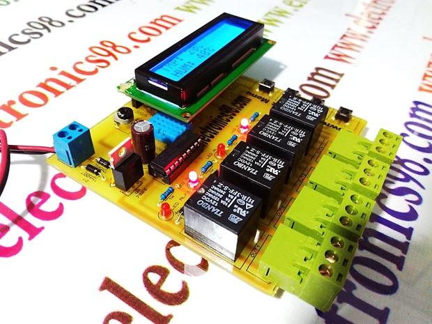 کنترل دما و رطوبت محیط با استفاده از سنسور DHT11