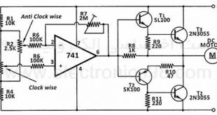 Control-the-speed-and-direction-of-rotation-of-DC-motors-with-op-amps-741-s