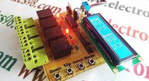 اندازه گیری همزمان دمای چهار نقطه با سنسور DS18B20