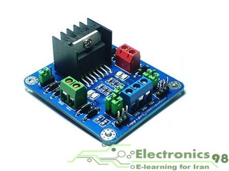 دانلود پروژه راه اندازی و کنترل موتور DC با آی سی L298 و میکروکنترلر AVR