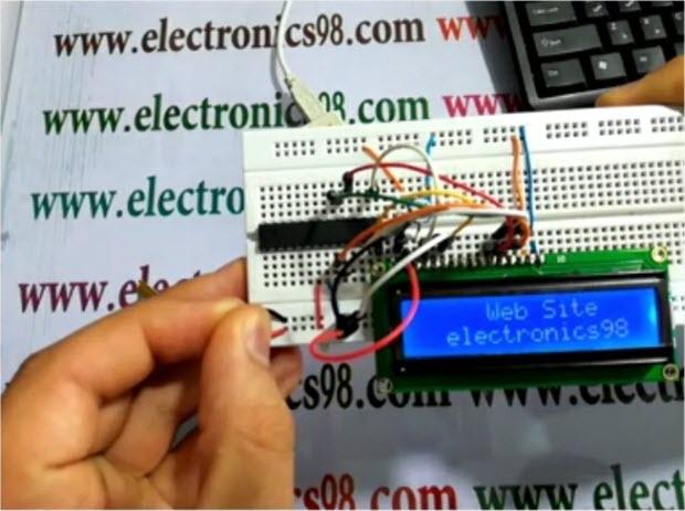 راه اندازی ال سی دی کاراکتری توسط میکروکنترلر AVR