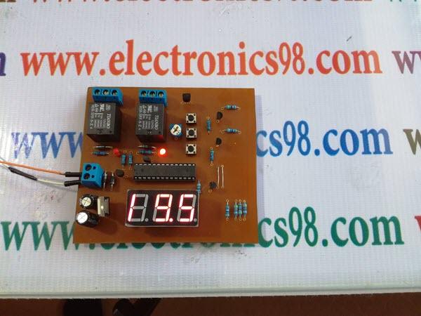 پروژه کنترل دمای محیط با AVR و LM35 و سون سگمنت به زبان C