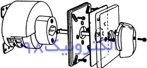 نمایش اجزاء داخلی کلید گردان