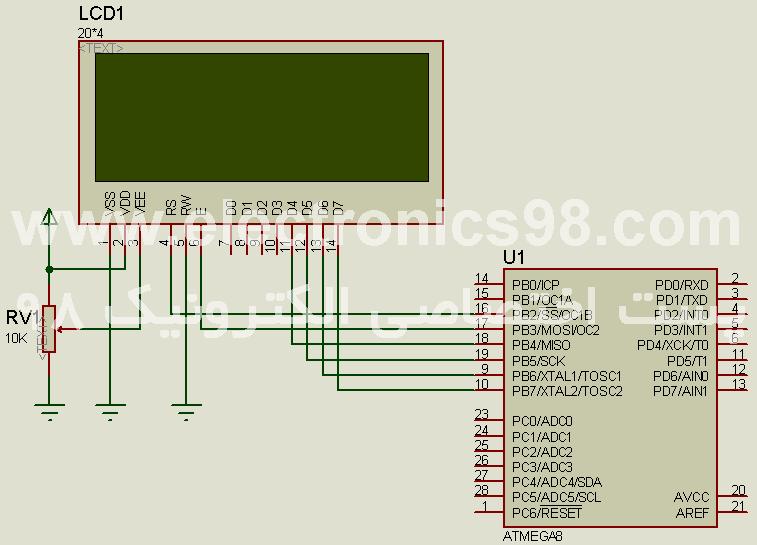 آموزش برنامه نویسی مقدماتی BASIC-پیکربندی LCD کارکتری