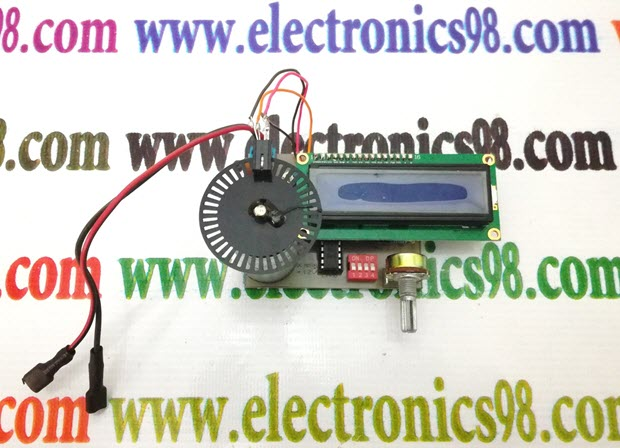 اندازه گیری سرعت چرخش موتور انکدردار با میکروکنترلر AVR