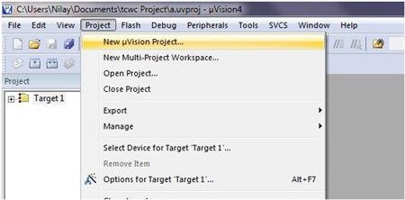 نحوه ایجاد یک پروژه جدید در نرم افزار Keil Uvision