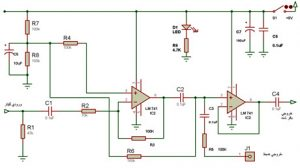 Preamplifier and buffer for electric guitar1