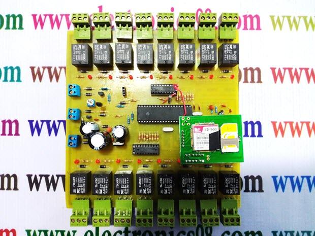 پروژه فوق حرفه ای هوشمند سازی با قابلیت کنترل توسط کامپیوتر و پیامک