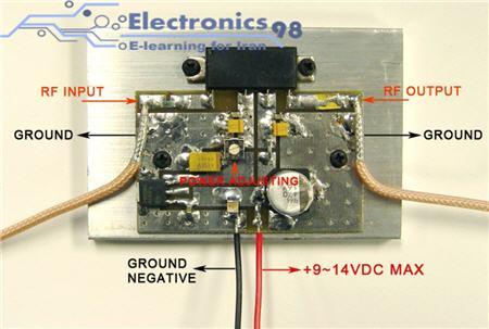 دانلود پروژه ساخت تقویت کننده صوتی یا آمپلی فایر 1.5 RF وات