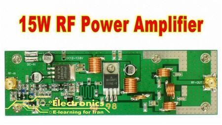 دانلود پروژه ساخت آمپلی فایر RF آر.اف 15 وات