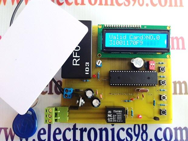 ساخت دربازکن RFID با ماژول RF01D و میکروکنترلر AVR