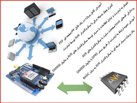 دانلود پروژه کنترل 4 وسیله برقی از طریق اینترنت GPRS با ماژول SIM900