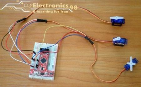 دانلود پروژه راه اندازی و کنترل سرو موتورها توسط میکروکنترلر AVR