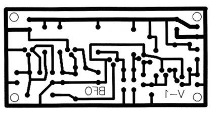 مدار چاپی فلزیاب BFO دو اسیلاتور