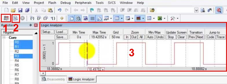 شبیه سازی یک پروژه در نرم افزار Keil Uvision