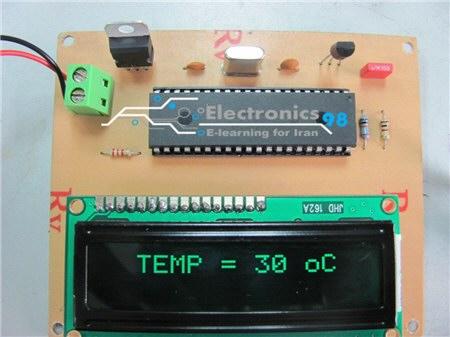 دانلود پروژه ساخت دماسنج و ترموستات دیجیتالی با آی سی LM35 و AVR