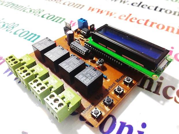 ساخت مدار کنترل دما و ساعت دیجیتالی با آی سی DS1307