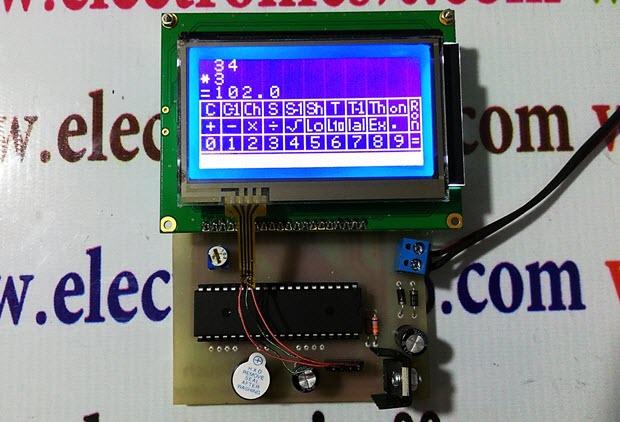 ساخت ماشین حساب مهندسی تاچ اسکرین با LCD گرافیکی و AVR