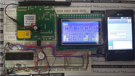 نوشتن لمسی پیام کوتاه و ارسال SMS با AVR و ماژول SIM900