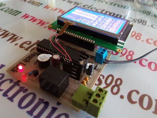 ساخت قفل رمزی تاچ اسکرین با LCD گرافیکی و میکرو AVR