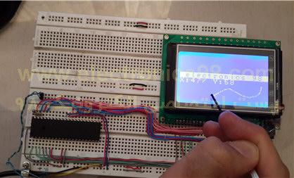 راه اندازی تاچ اسکرین توسط AVR با قابلیت کالیبراسیون