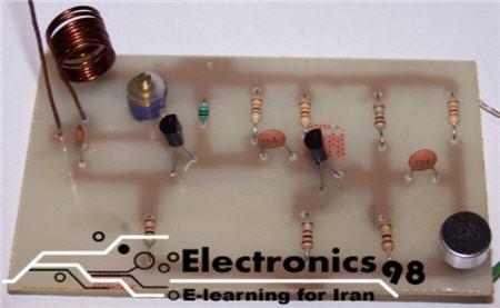 دانلود پروژه ساخت فرستنده اف ام FM دو ترانزیستوری
