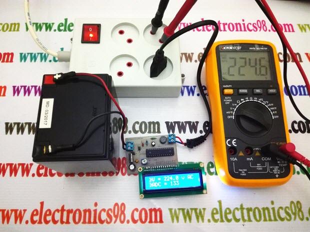 ولت متر AC با قابلیت اندازه گیری ولتاژ 0 تا 1000 ولت rms