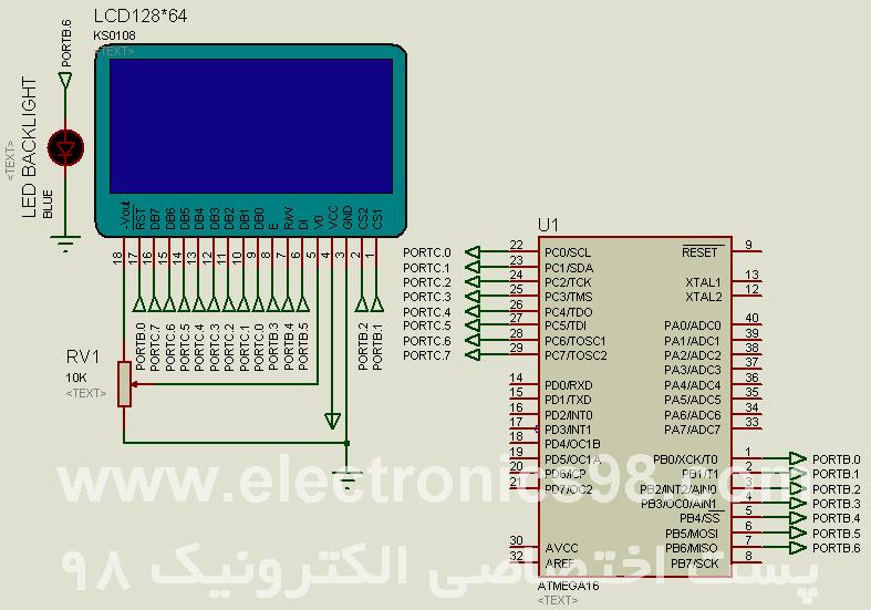 آموزش نوشتن متن فارسی در LCD گرافیکی با میکروکنترلر AVR