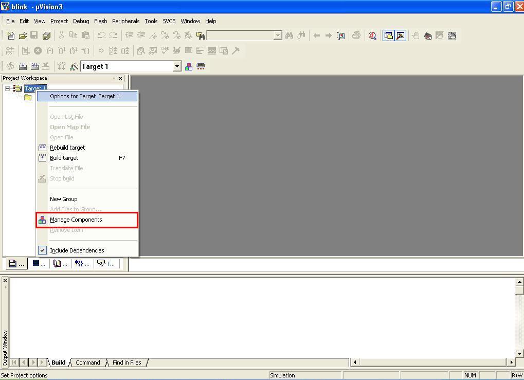 اضافه کردن فایل متنی به پروژه در نرم افزار Keil Uvision