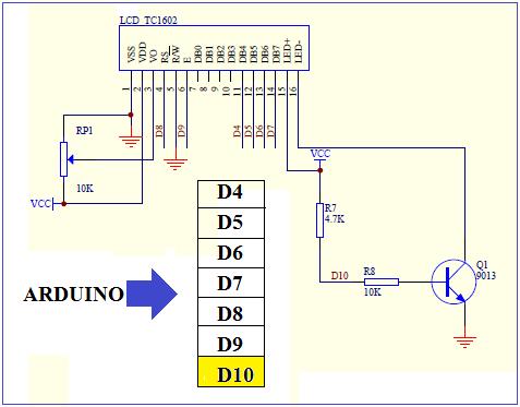 نحوه اتصال ال سی دی کاراکتری به آردوینو