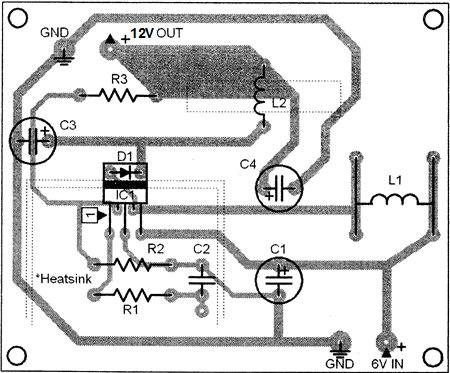 دانلود پروژه مبدل ولتاژ 6 ولت به 12 ولت