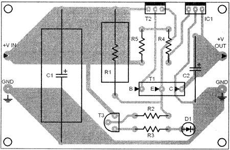 ساخت منبع تغذیه 5 ولت 3 آمپر با آی سی رگولاتور ولتاژ 7805